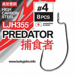 Kabliukai ofsetiniai Lucky John Predator LJH355