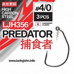Kabliukai ofsetiniai Lucky John Predator LJH356