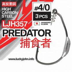 Kabliukai ofsetiniai Lucky John Predator LJH357