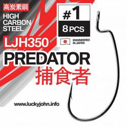 Kabliukai ofsetiniai Lucky John Predator LJH350