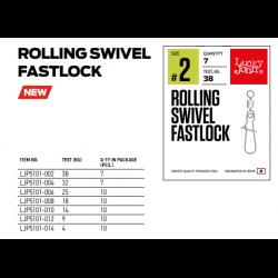 Suktukas su karabinu Lucky John Pro Rolling Swivel Fastlock