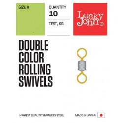 Suktukas Lucky John Double Color ROLLING SWIVELS