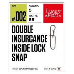 Karabinas Lucky John Pro Double Insurance Inside Lock