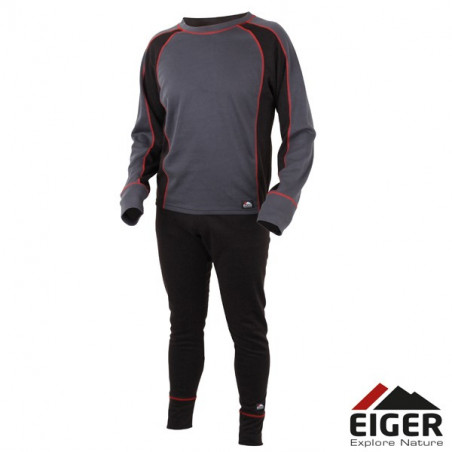 Eiger Active Underwear Set Black/Grey Apatiniai