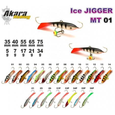 Balansyras-švytuoklė AKARA ICE JIGGER MT 01 17g