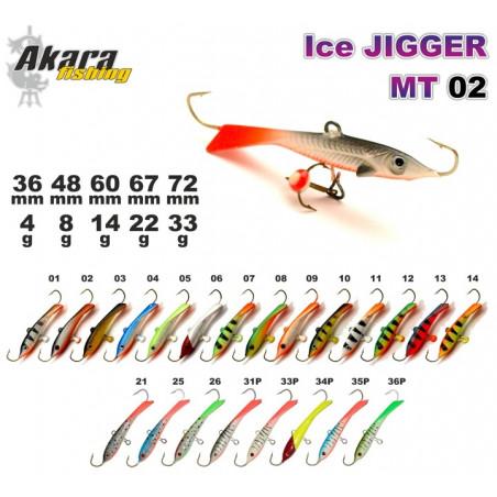 Balansyras-švytuoklė AKARA Ice JIGGER MT 02 14g
