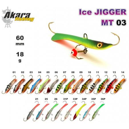 Balansyras-švytuoklė AKARA Ice JIGGER MT 03 18g