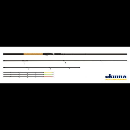 Meškerė Okuma Solitron Feeder M 3.30cm 30-70g + 3 galūnės