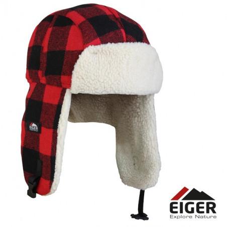 Kepurė Eiger Fleece Korean Hat Red Check