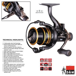 Ritė DAM Quick Shadow 30FS Baitfeed 4+1BB 5.1:1
