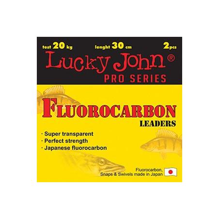 Pavadėlis Lucky John fluorocarbon 25cm 2vnt