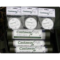 Castaway PVA tinkliuko papildymas su tūba 18, 25, 35 mm - 7 m